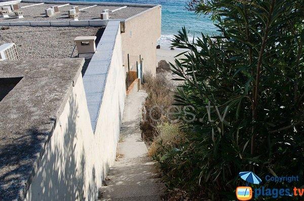 Accès à la plage de Stella di Mare - Ajaccio
