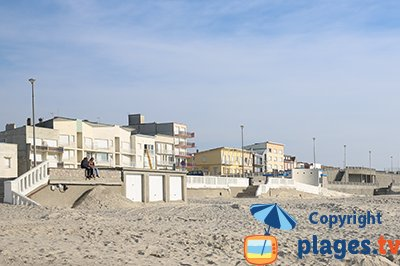 Seaside resort of Stella in North of France