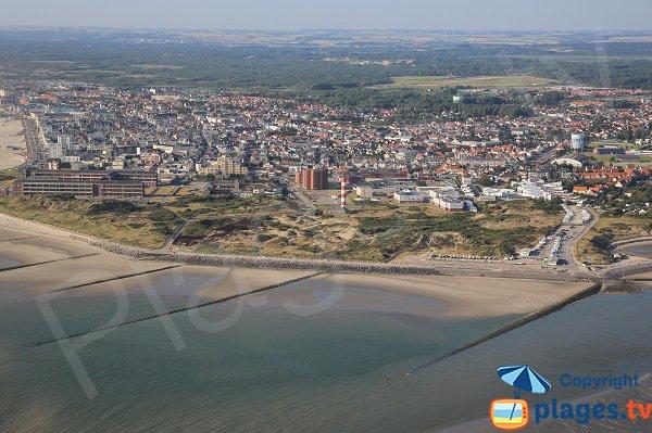 Photo aérienne de la plage des Sternes de Berck