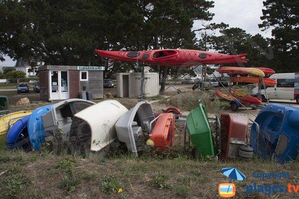 Kayak sur Mer à Ploemeur - Stole