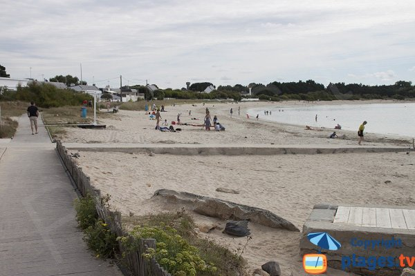 Photo of Stole beach in Ploemeur in Brittany - France