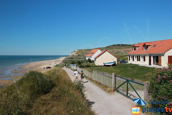 Strouanne beach in Wissant, way to Cape Blanc Nez