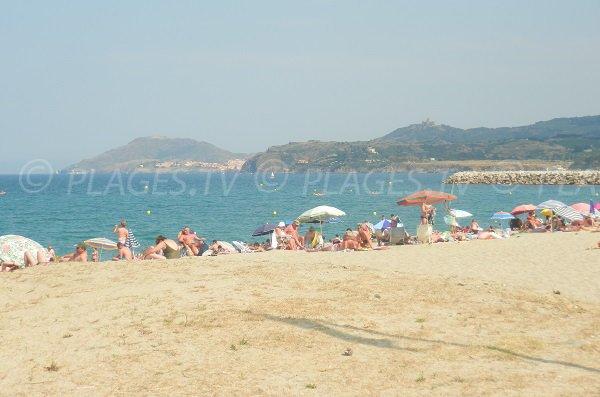 South beach in Argelès sur Mer