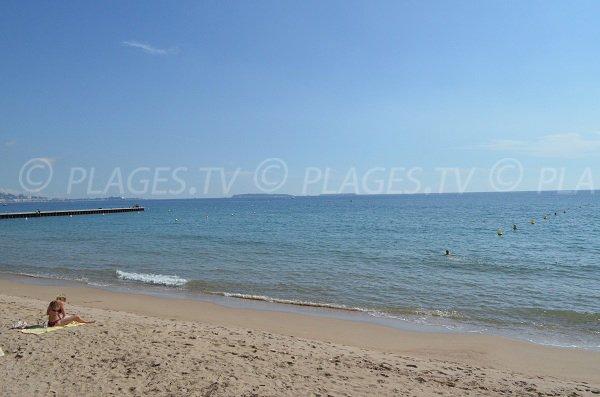 Sud Aviation beach in Cannes la Bocca in France
