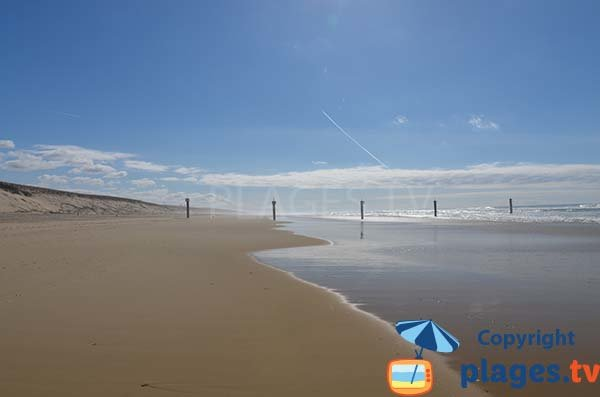 Limite de la plage sud de Biscarrosse