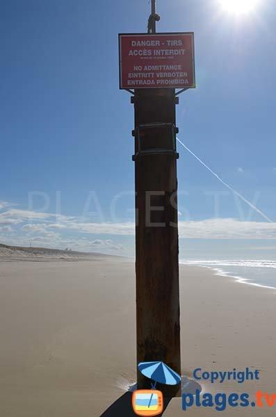 Zone militaire sur la plage de Biscarrosse