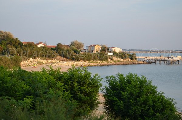 View of the south beach of Fouras from the road