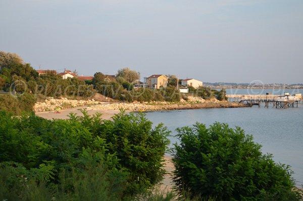 Vue de la plage sud de Fouras depuis la route