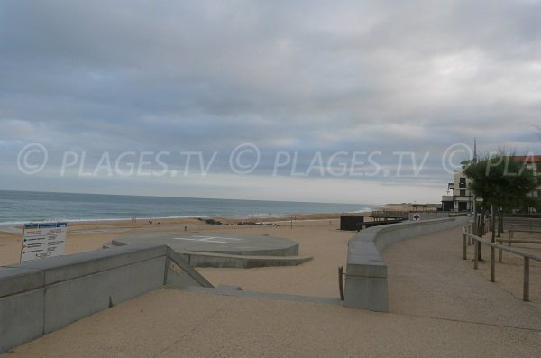 Southern Hossegor beach - View towards the city center