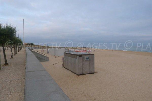 Promenade piétonne de la plage Sud d'Hossegor
