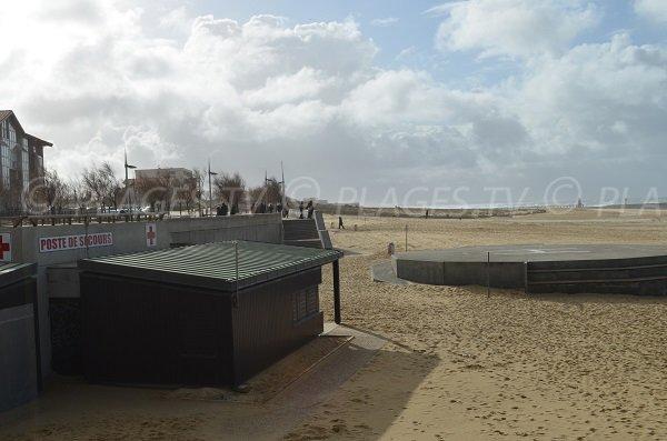 South beach in Hossegor in France