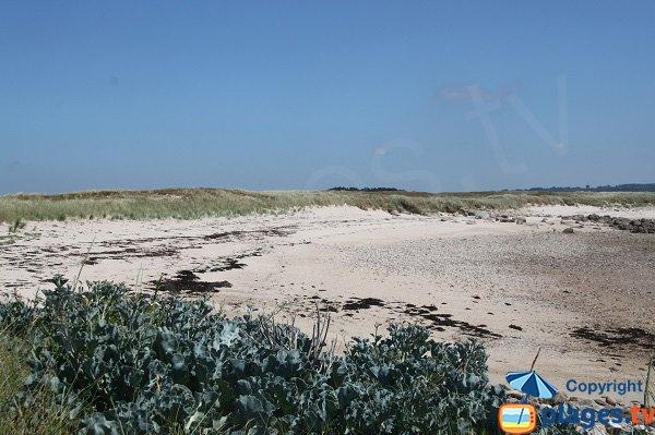 Photo de la plage au sud de l'ile d'Aganton - Bretagne