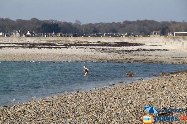 Partie sud de la plage de l'ilot de Sainte Anne