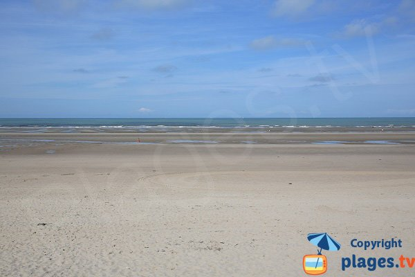 Beach at low tide in Le Touquet