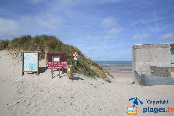 Accès à la plage sud du Touquet