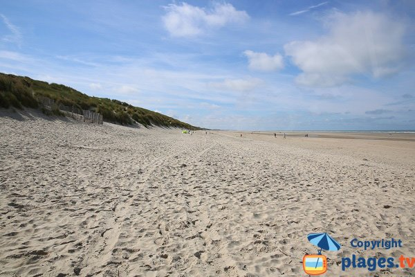 Photo de la plage sud du Touquet