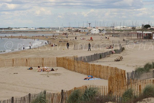 Photo of the Port Camargue beach in France