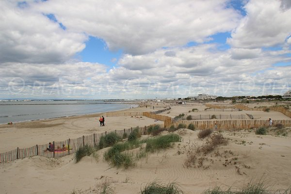 South beach in Port Camargue in France