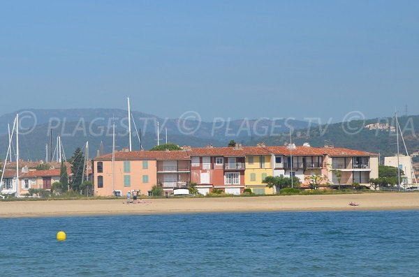 South beach in Port Grimaud from the sea