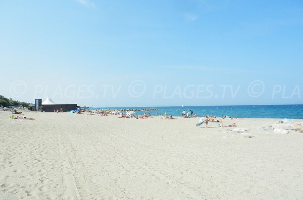 South beach in Saint Cyprien in France