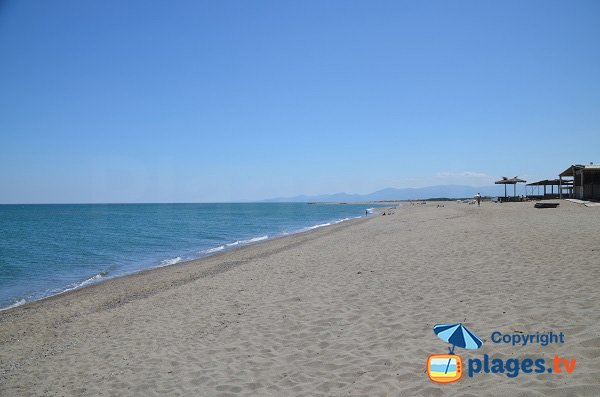 Private beach in Torreilles - South part