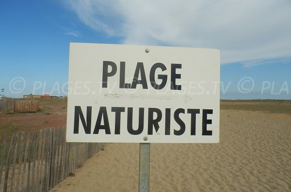 Nudist beach in Torreilles in France