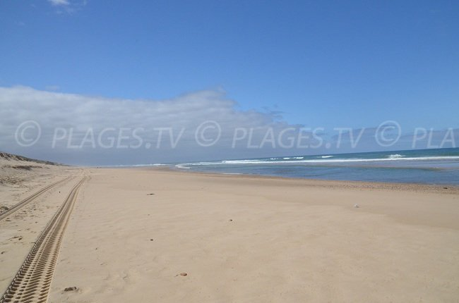 Beach of Super Sud in Lacanau - France