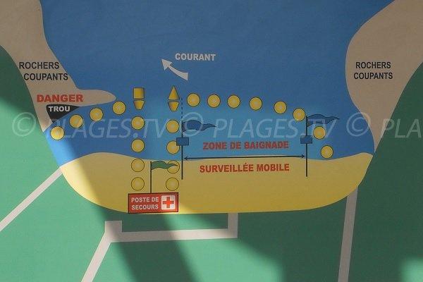 Zone de baignade de la plage de Suzac
