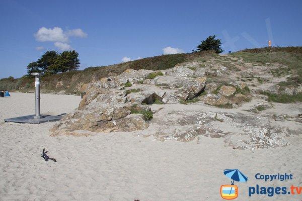 Douche de la plage de Ragunez à Névez