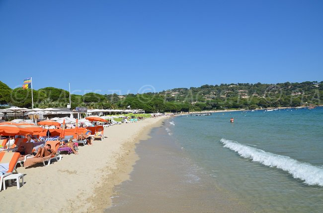 The famous Tahiti Beach in Ramatuelle