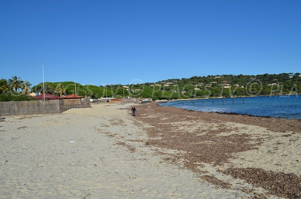 Tahiti beach in winter - Saint-Tropez area