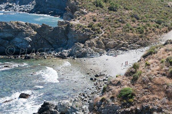 Spiaggia di Taillelauque a Banyuls sur Mer - Francia