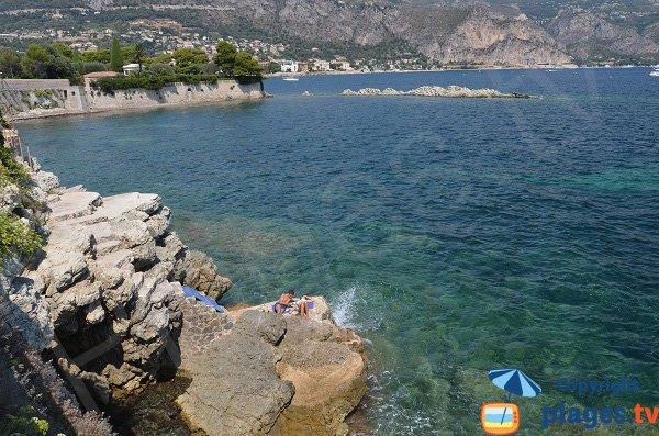 Rocks and bathing in St Jean Cap Ferrat near Beaulieu sur Mer