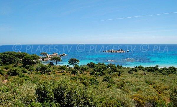 Photo of the Tamaricciu beach in Porto-Vecchio - Corsica