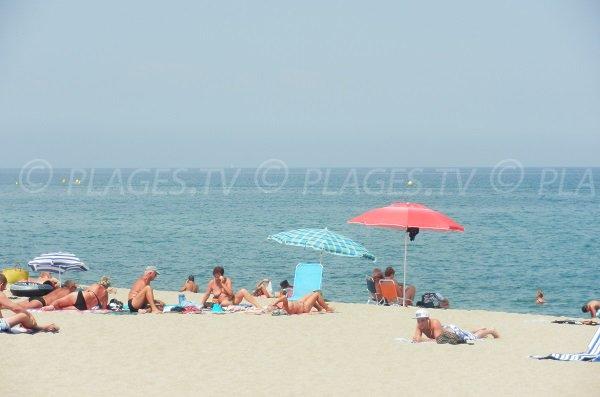Foto della spiaggia di Tamariguer a Argelès