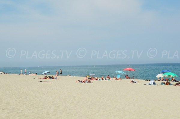 Spiaggia di Tamariguer a Argelès sur Mer - Francia