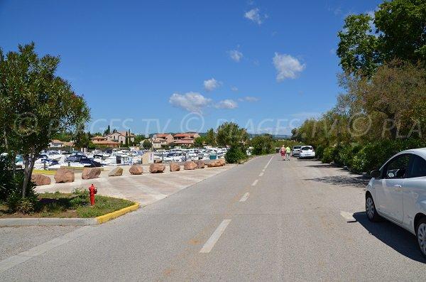 Parking of Tamaris beach La Londe les Maures
