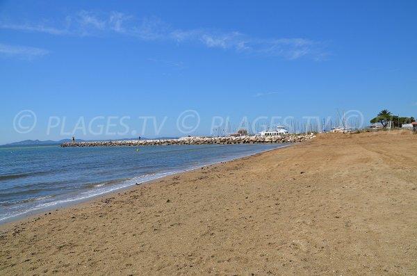 Tamaris beach in La Londe des Maures in France