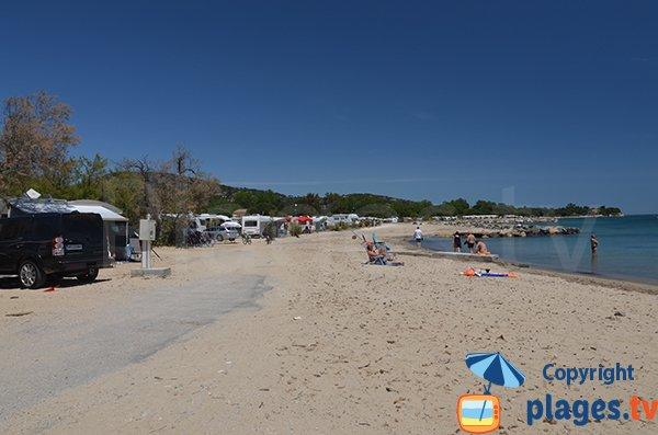 Extrémité de la plage des Tamaris - Port-Grimaud