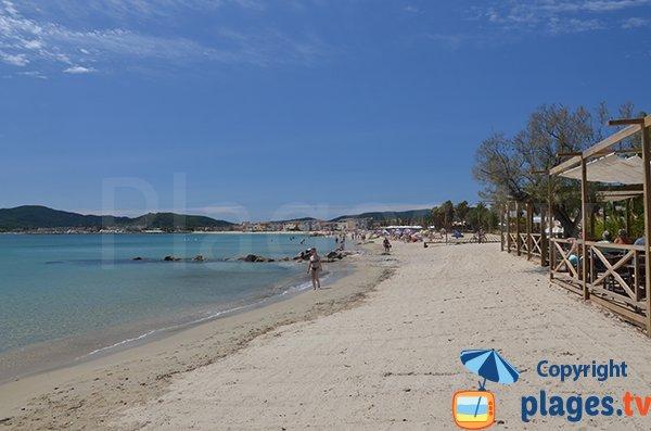 Tamaris beach in Port Grimaud in France