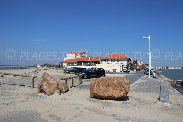 Hérault et plage de la Tamarissière au Grau d'Agde