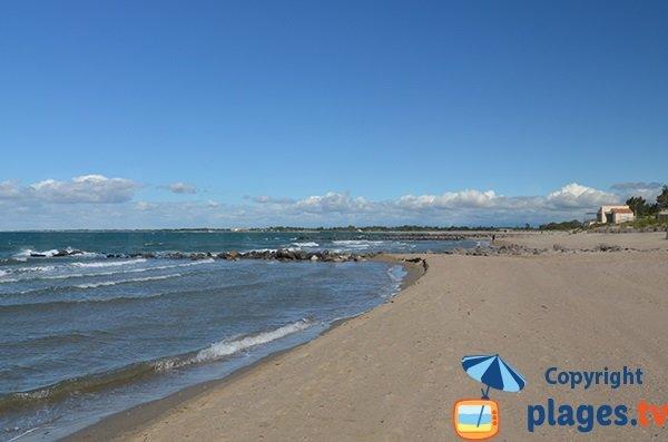 Photo de la plage de la Tamarissière à Vias