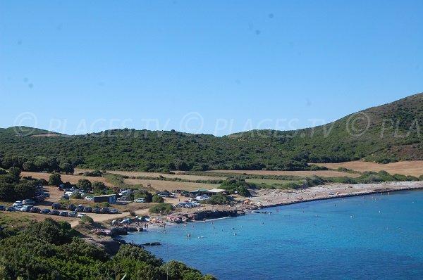 Plage de Tamarone dans le Cap Corse