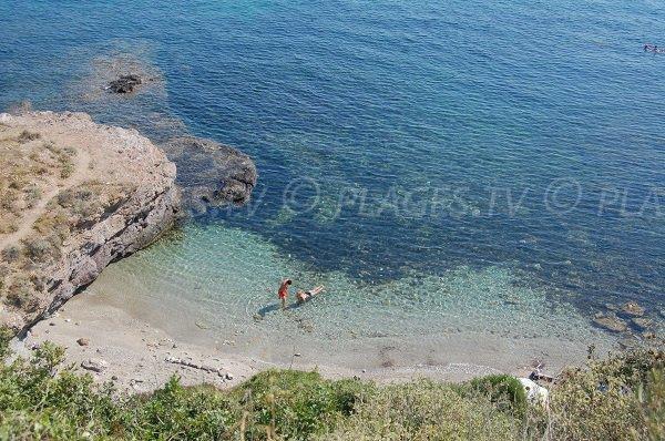 Crique de Tamarone dans le Cap Corse