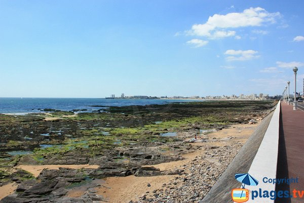 Tanchet beach and view on Les Sables d'Olonne