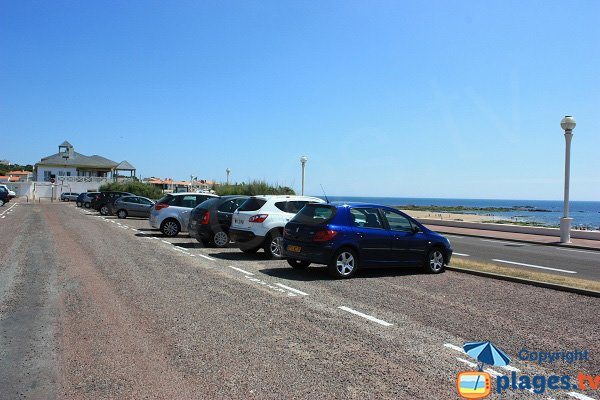 Parking de la plage de Tanchet