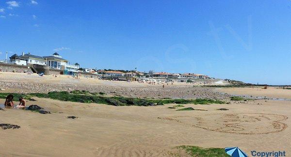 Front de mer au château d'Olonne à côté de la plage du Tanchet