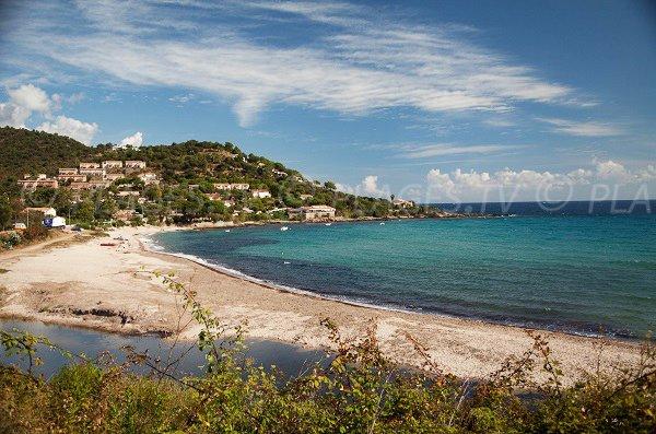Foto della spiaggia di Tarco in Corsica