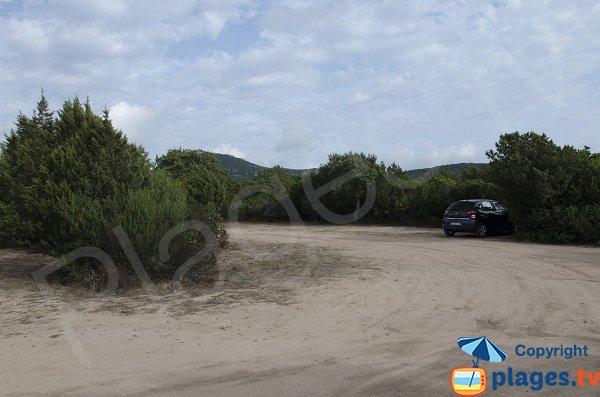 Parking des plages à Figari