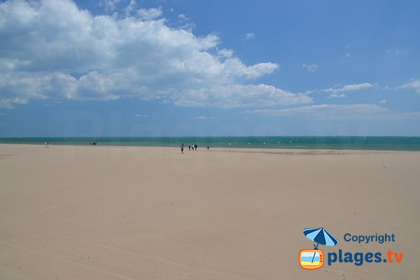 Large sand beach in Narbonne - France